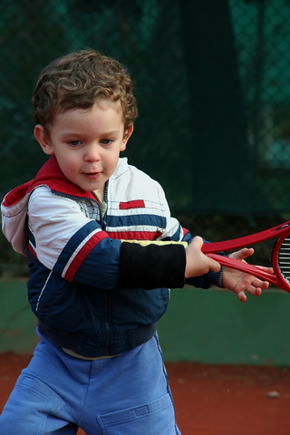 Boy Playing Tennis - © Snezana13